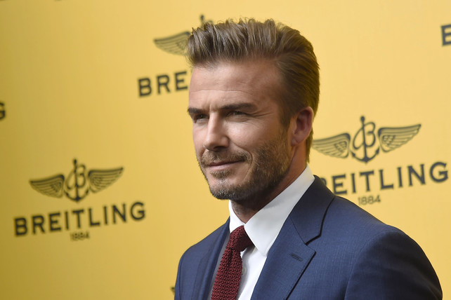 "David Beckham at the opening of the new store ""Breitling"" in Madrid. Wednesday 03 June 2015 Madrid"